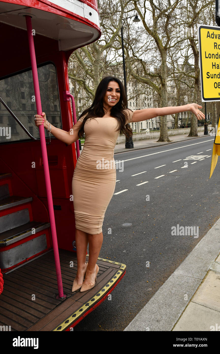 London, UK. 22nd Mar, 2019. Francine Lewis attend Celeb Bri Tea, on board the BB Bakery bus on 22 March 2019, London, UK. Credit: Picture Capital/Alamy Lie News Stock Photo