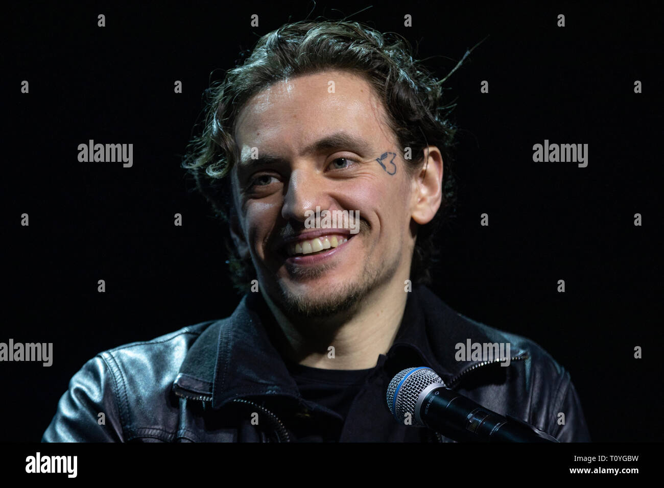 Moscow, Russia. 22nd Mar 2019. Ballet dancer Sergei Polunin at the 2019 Moscow Cultural Forum at the Manezh Central Exhibition Hall Credit: Nikolay Vinokurov/Alamy Live News - Stock Image