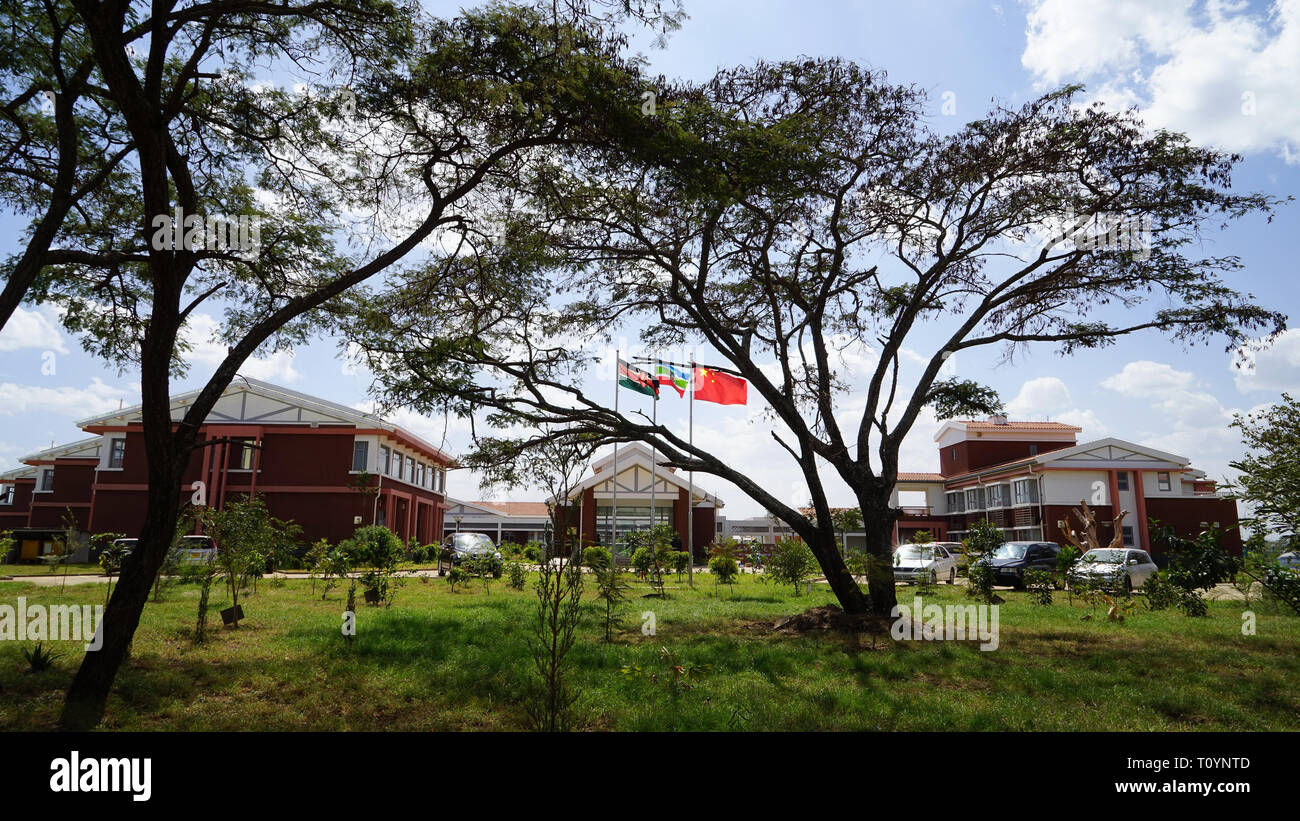 (190323) -- BEIJING, March 23, 2019 (Xinhua) -- Photo taken on Oct. 2, 2017 shows the headquarters of Sino-Africa Joint Research Centre that is affiliated with Chinese Academy of Sciences (CAS) near Nairobi, Kenya. The Sino-Africa Joint Research Center (SAJOREC), a talent cultivation and scientific research institute, was established in 2013 and covers some 40 acres of land.     The Chinese Academy of Sciences has equipped SAJOREC to enhance its capacity to implement joint research projects. Since its establishment, 48 joint research projects focusing on biodiversity investigation, pathogenic  - Stock Image