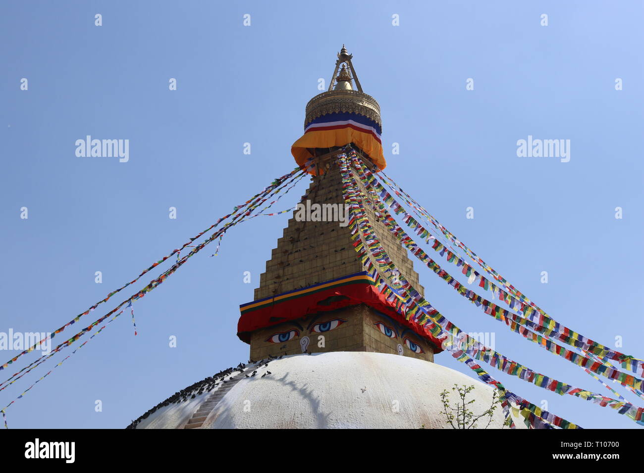 Boudhanath, also called the Khāsa Chaitya, UNESCO World Heritage Site, Kathmandu, Nepal - Stock Image
