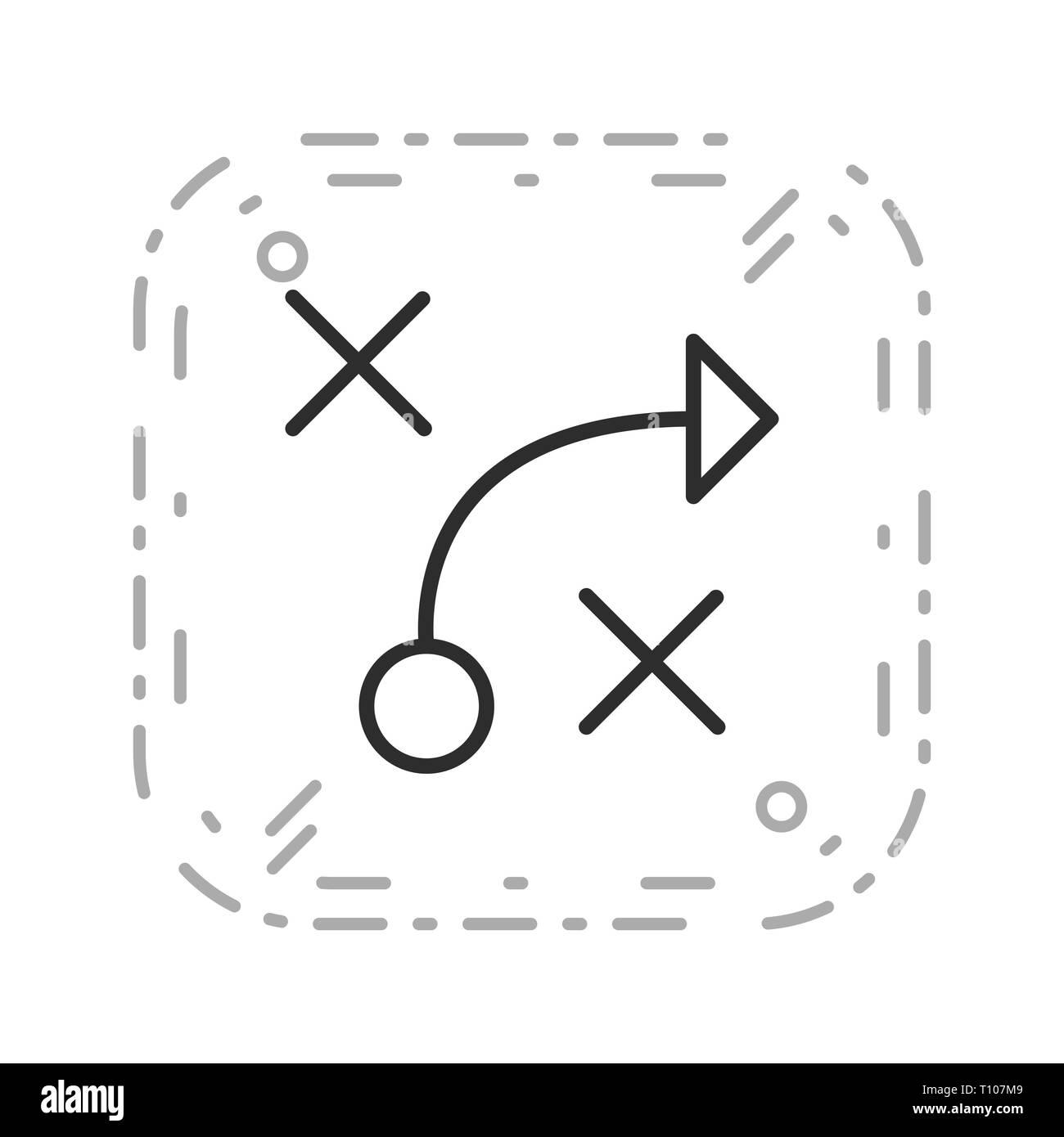 Illustration Tactics  Icon - Stock Image