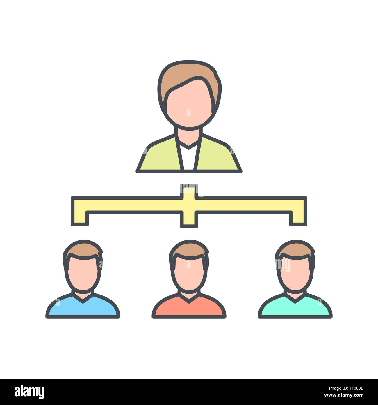 Illustration Organization Icon - Stock Image
