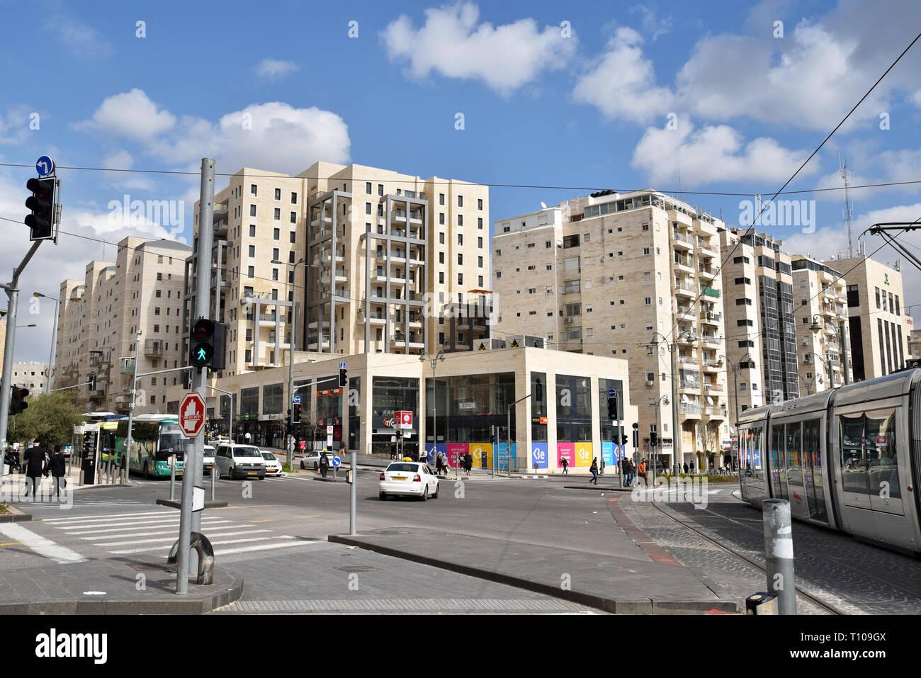 Sderot Sarei Israel, Jerusalem, Israël - Stock Image