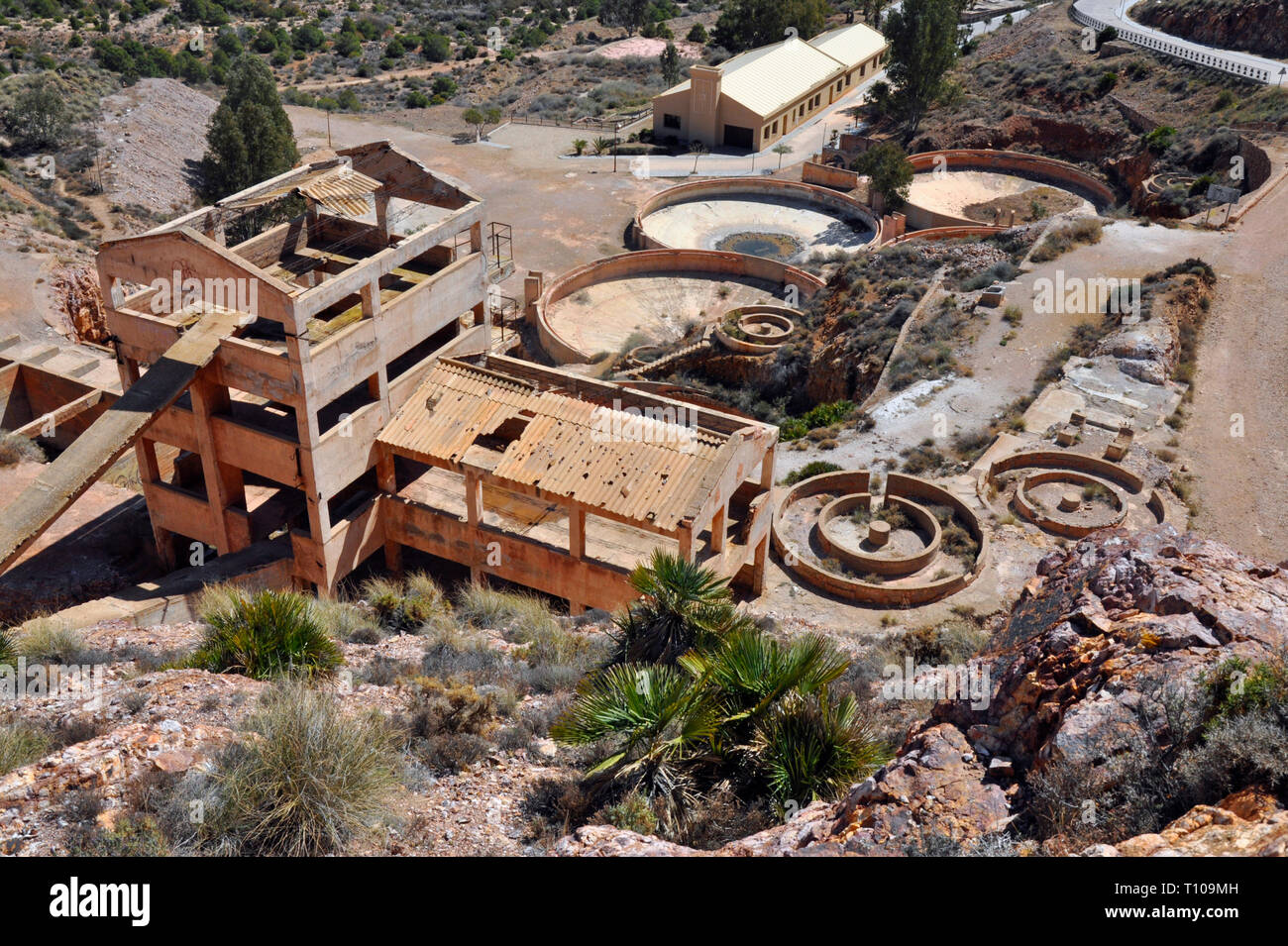 Formerly, one of the largest goldmines in Europe, the open cast mine site at Rodalquilar has been used as a film location since its closure in 1966. - Stock Image