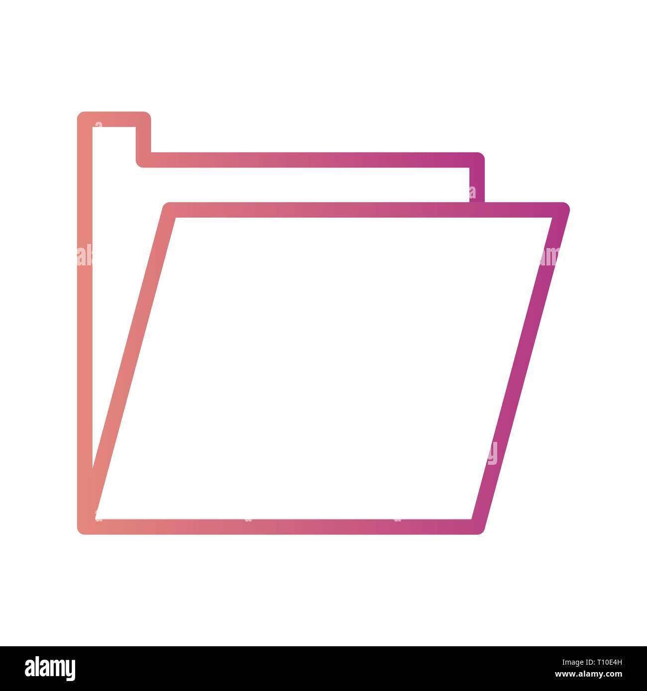 Vector Folder Icon Stock Photo
