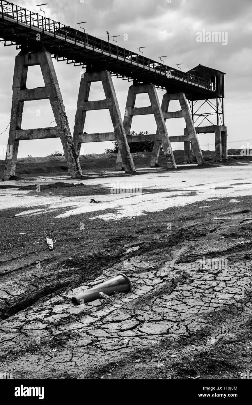 Colliery Conveyor belts - Stock Image