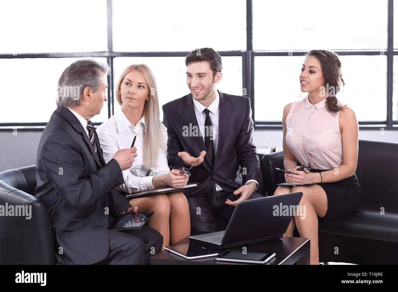 business partners at an informal meeting. the concept of cooperation - Stock Image