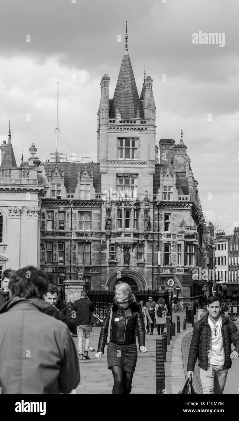 Cambridge, UK - March 14 2019: Gonville And Caius College which is a member of the Univarsity of Cambridge, Cambridge, England. - Stock Image