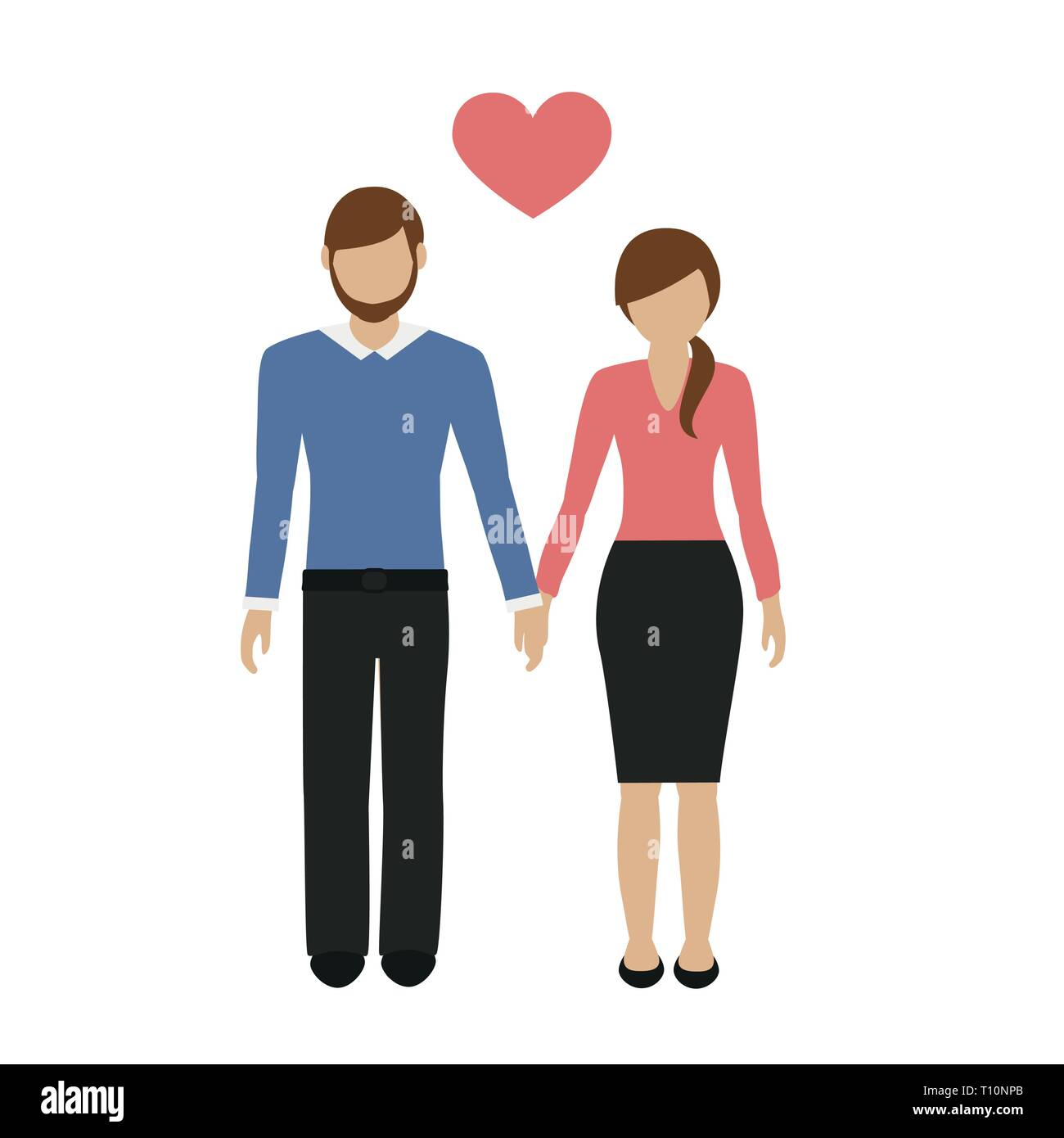 lovers couple man and woman character isolated on white background vector illustration EPS10 - Stock Vector