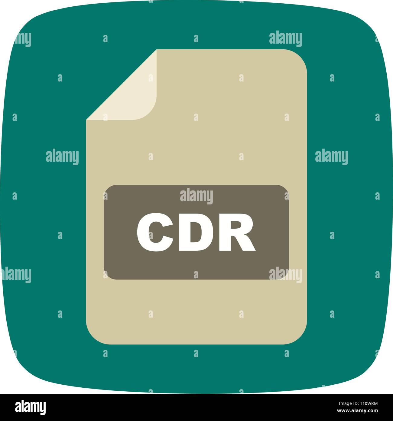 Illustration CDR  Icon - Stock Image