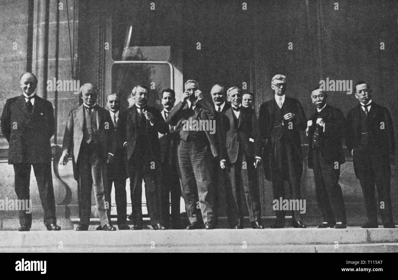 politics, conference, conference of the Allied Supreme War Council, Paris, 9.8.1921, Additional-Rights-Clearance-Info-Not-Available - Stock Image