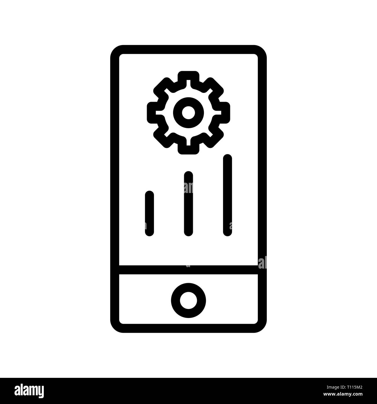 Vector Mobile Marketing Icon - Stock Image