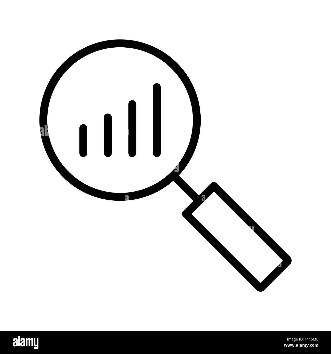 Vector Analysis Icon - Stock Image