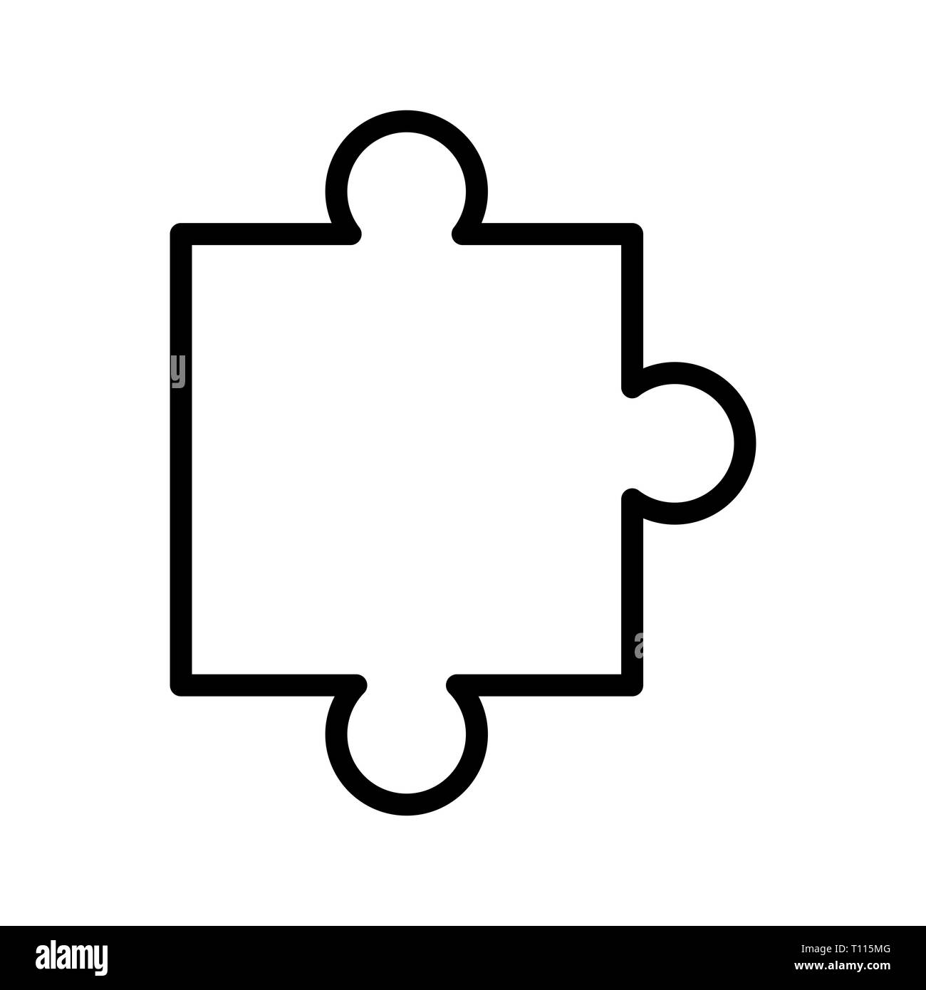 Vector Puzzle Piece Icon - Stock Image