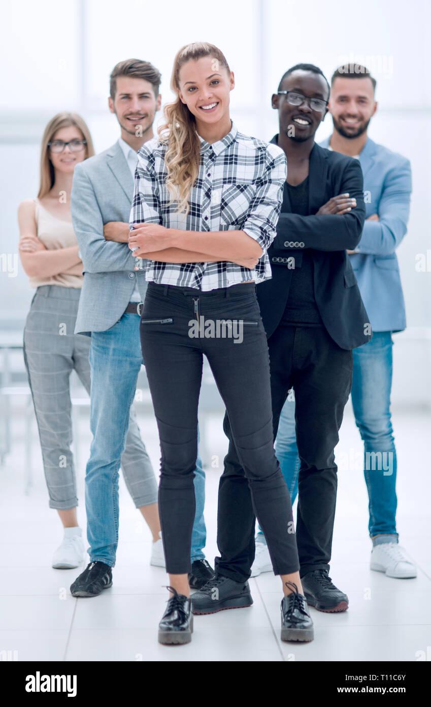 Successful multinational professionals team portrait - Stock Image