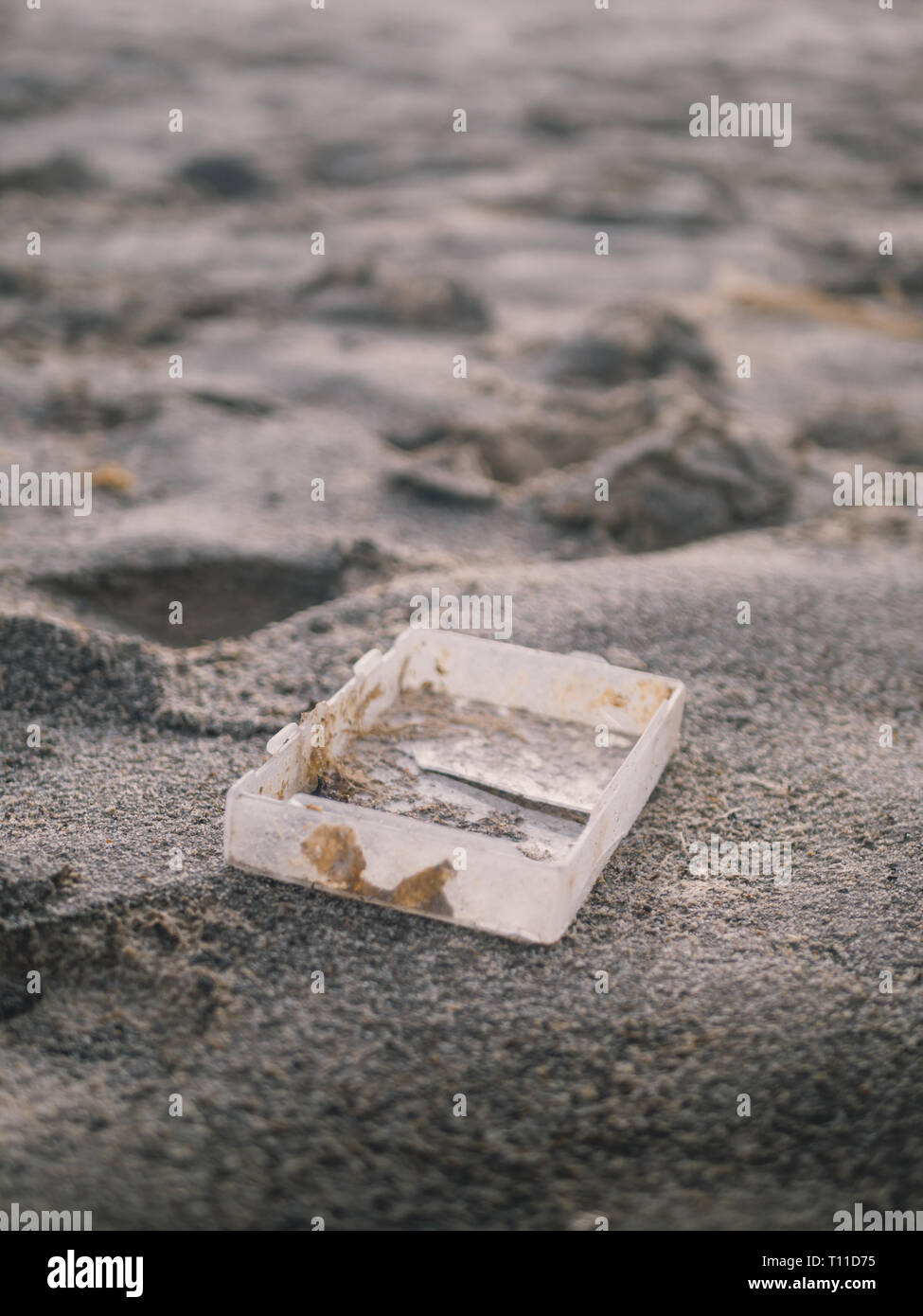 Beach Plastic Pollution - Stock Image