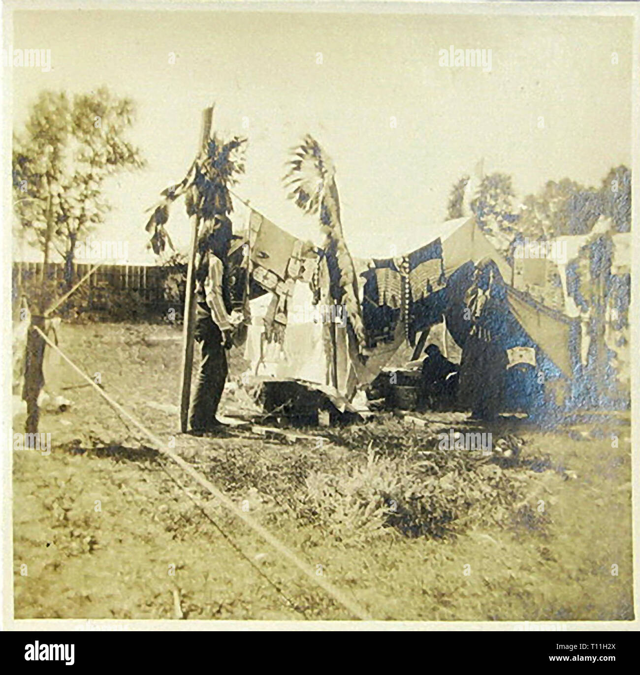 Photos of early America-Native American Indians. - Stock Image