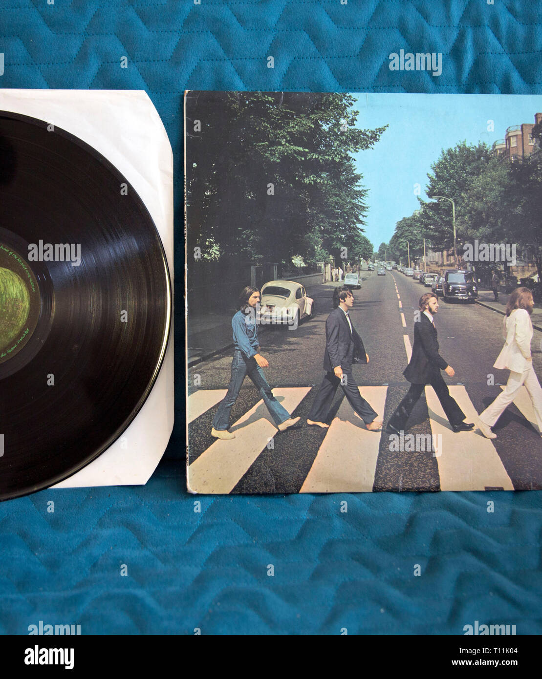 2019 is the 50th anniversary of the release of The Beatles album Abbey Road - Stock Image