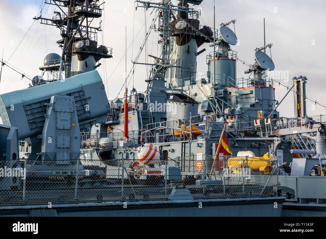 Wilhelmshaven, German Navy Museum, on the south beach, history of the German Navy, warships of the German Navy and the former NVA, destroyer Mölders o Stock Photo