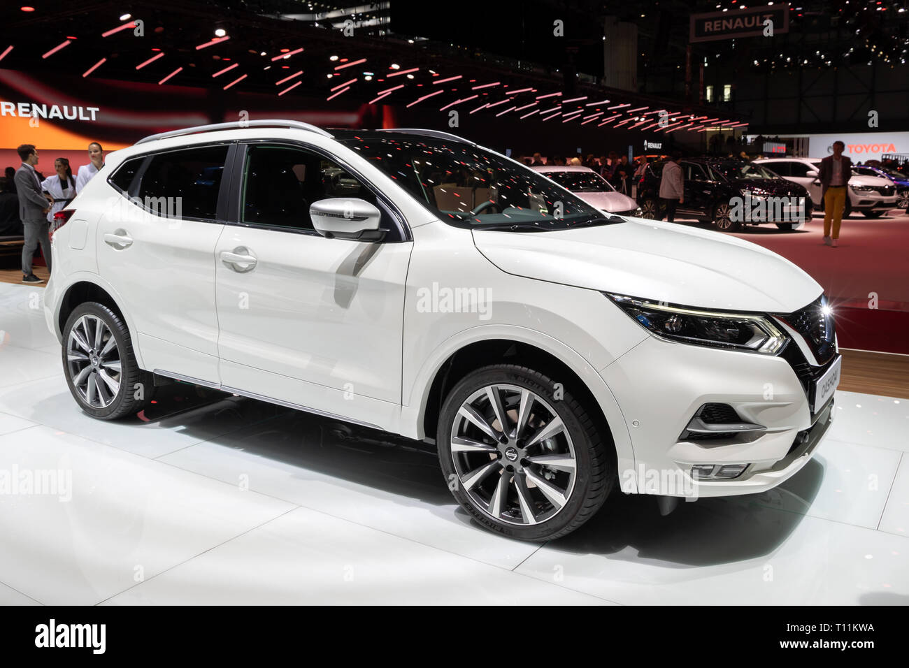 GENEVA, SWITZERLAND - MARCH 5, 2019: Nissan Qashqai car showcased at the 89th Geneva International Motor Show. - Stock Image