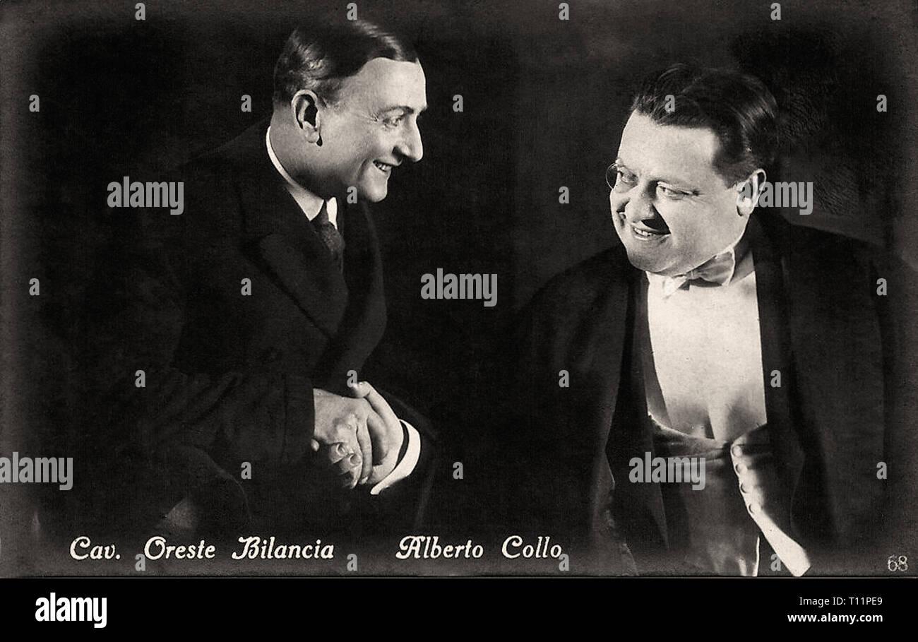 Promotional photography of Alberto Collo and Oreste Bilancia - Silent movie era - Stock Image