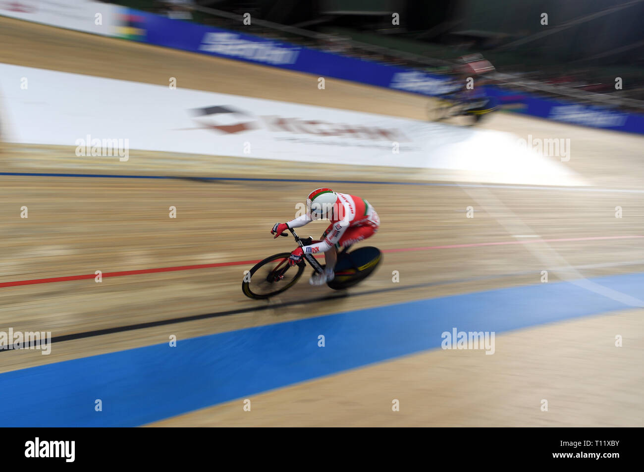 PRUSZKOW, POLAND - MARCH 03, 2019: UCI track cycling world