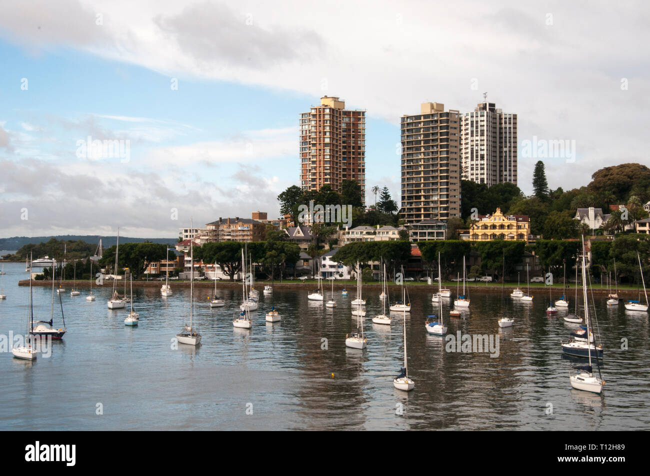 Darling Point across Rushcutters Bay, Sydney Stock Photo