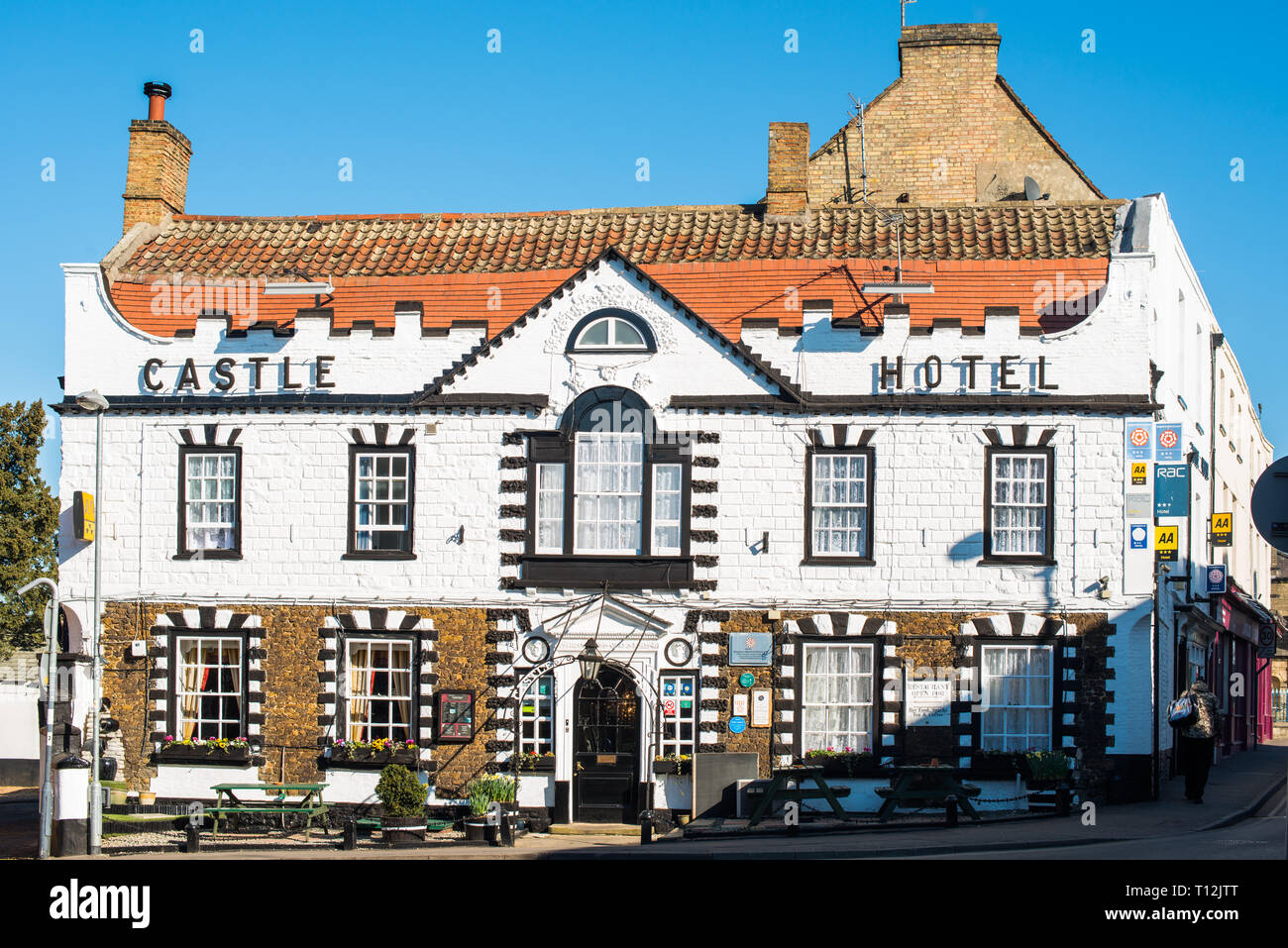 Castle Hotel in Downham Market, Norfolk, England, UK. - Stock Image