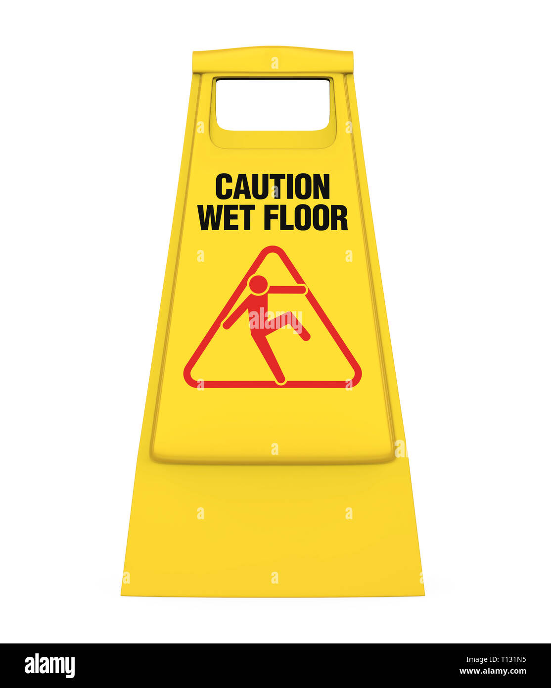 Wet Floor Sign Isolated - Stock Image