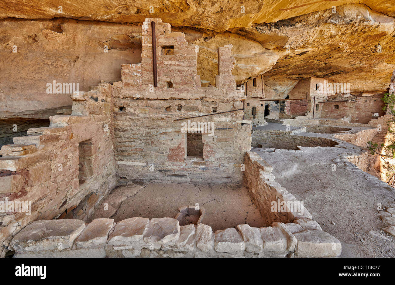 Balcony House, Cliff dwellings in Mesa-Verde-National Park, UNESCO world heritage site, Colorado, USA, North America Stock Photo