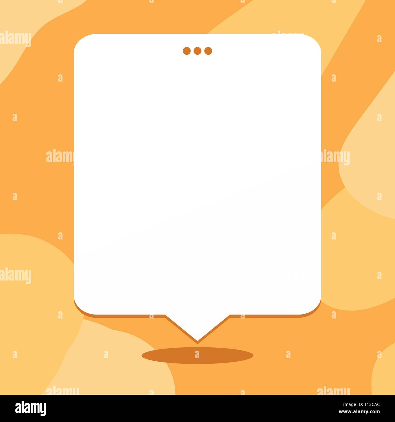 Blank Space White Speech Balloon Floating with Three Punched Holes on Top Design business concept Empty copy text for Web banners promotional material - Stock Vector