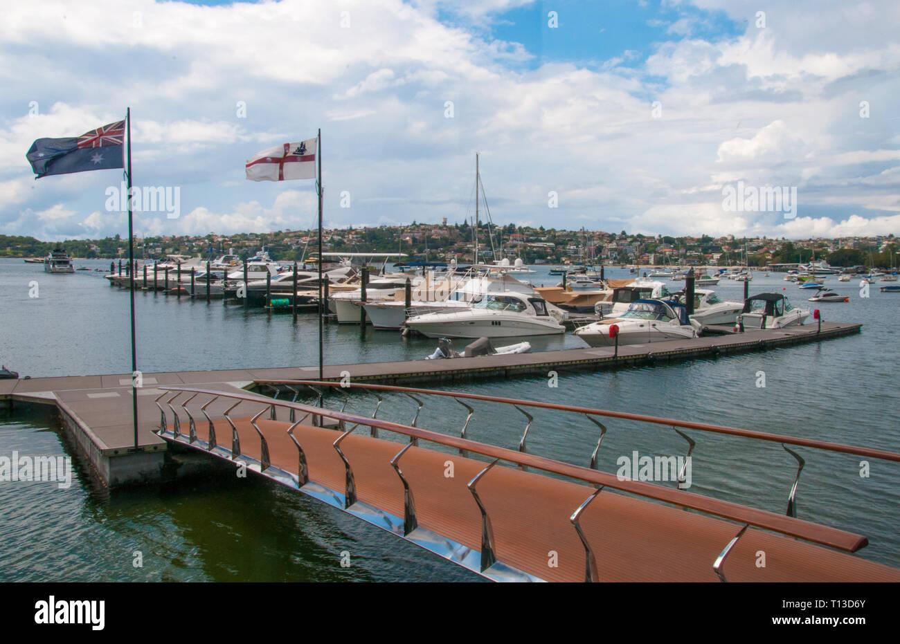 Marina at Rose Bay, Sydney Stock Photo