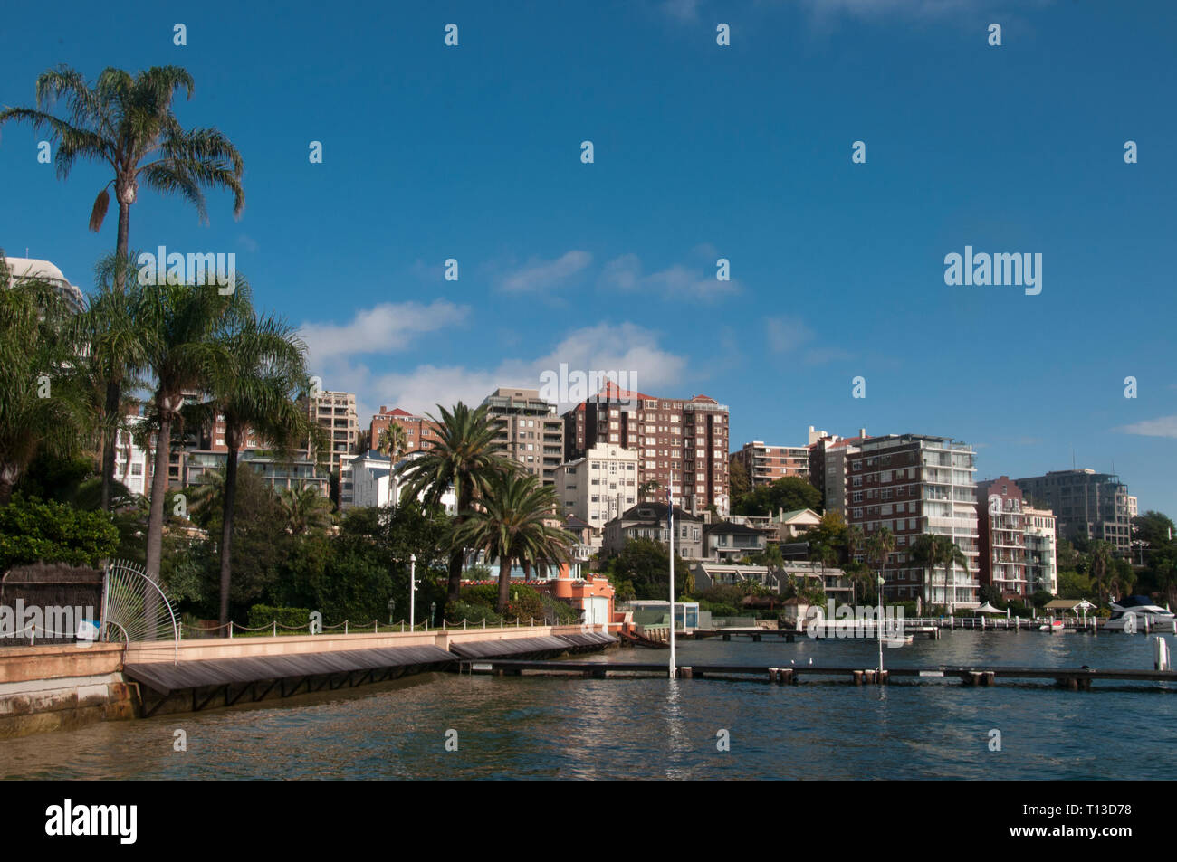 Waterfront at Elizabeth Bay in Sydney's eastern suburbs Stock Photo