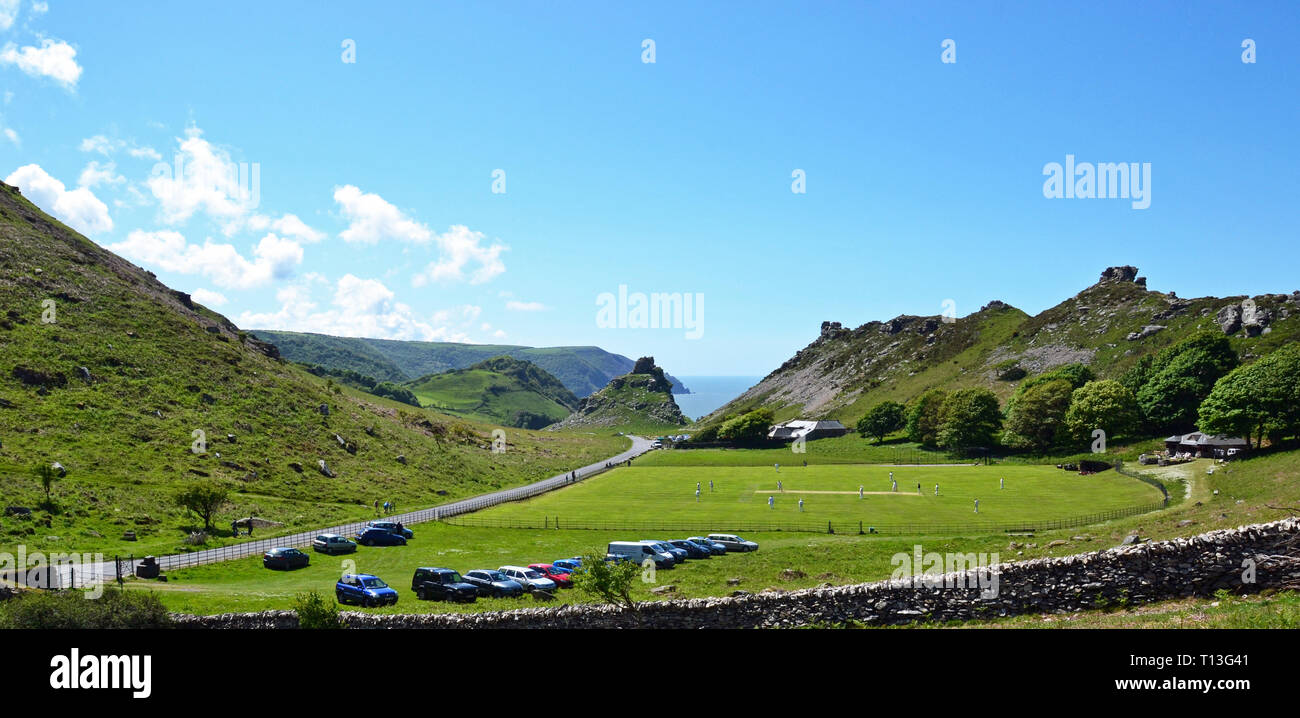 Valley of the Rocks, near Lynton and Lynmouth, Devon, UK - Stock Image