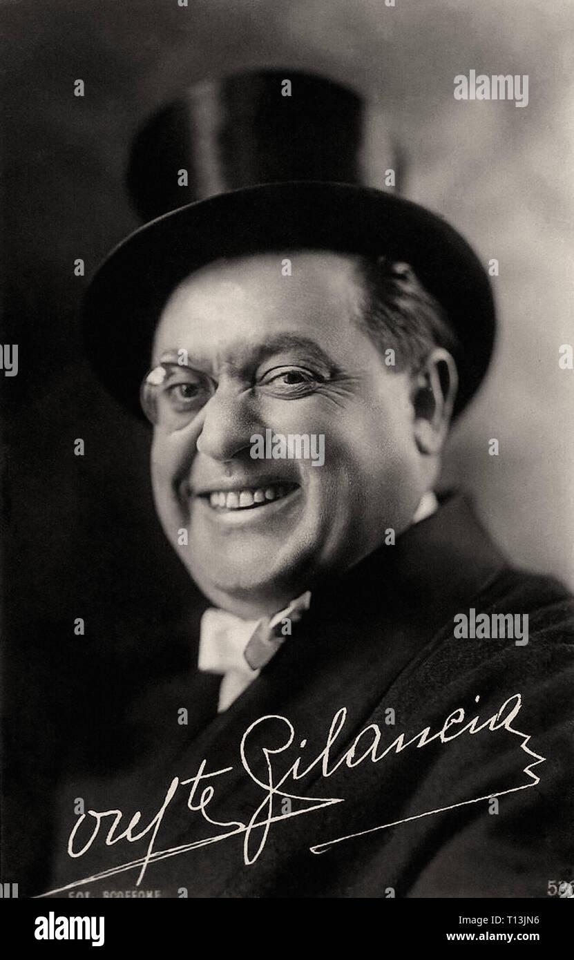 Promotional photography of Oreste Bilancia - Silent movie era - Stock Image