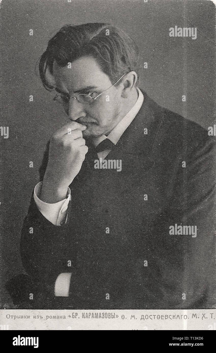 Promotional photography of Vasili Kachalov in the Brothers Karamazov - Silent movie era - Stock Image