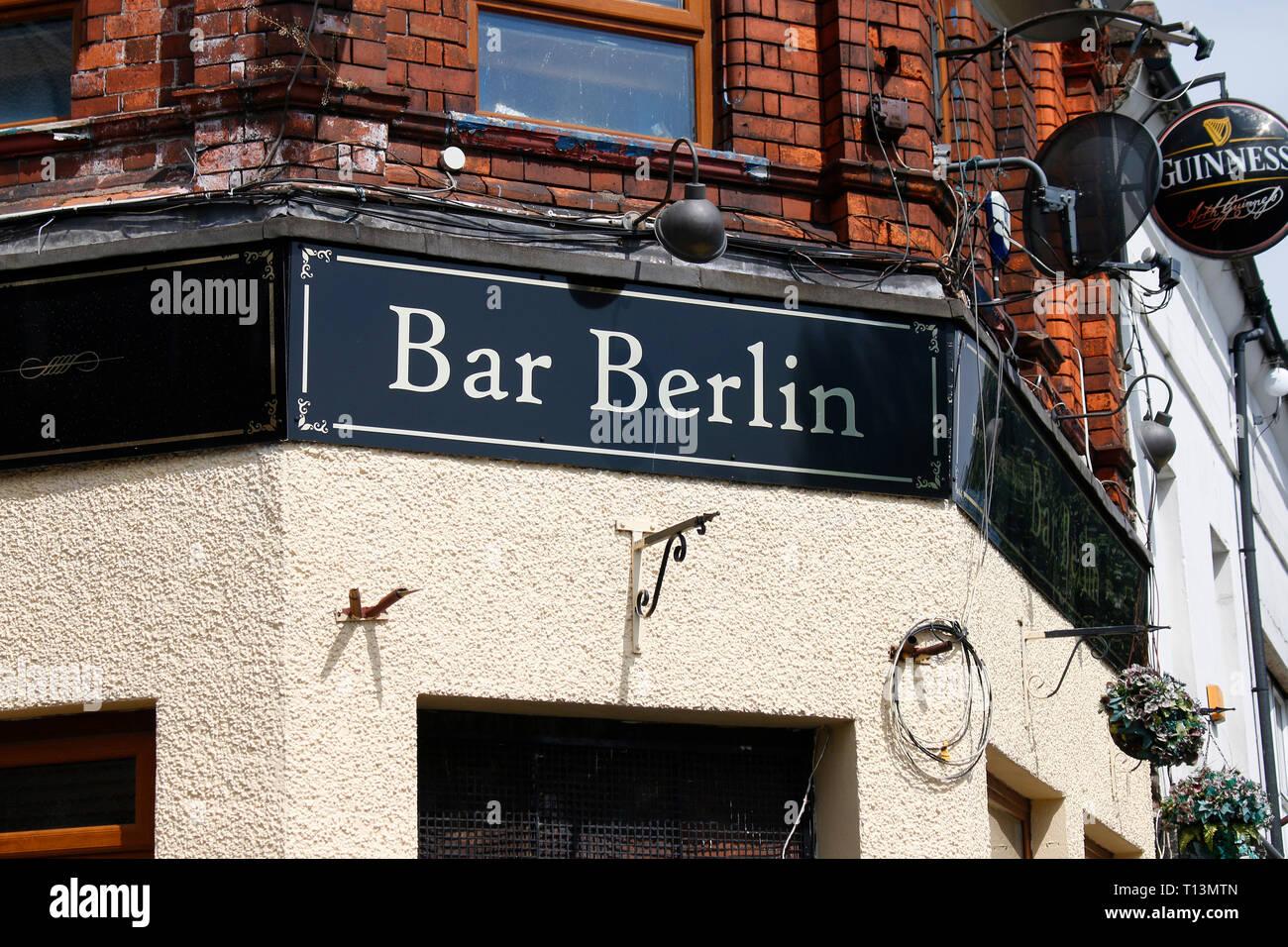 'Bar Berlin', im protestantischen Teil Belfasts, Shankill Road, Belfast, Nordirland  (nur fuer redaktionelle Verwendung. Keine Werbung. Referenzdatenb - Stock Image