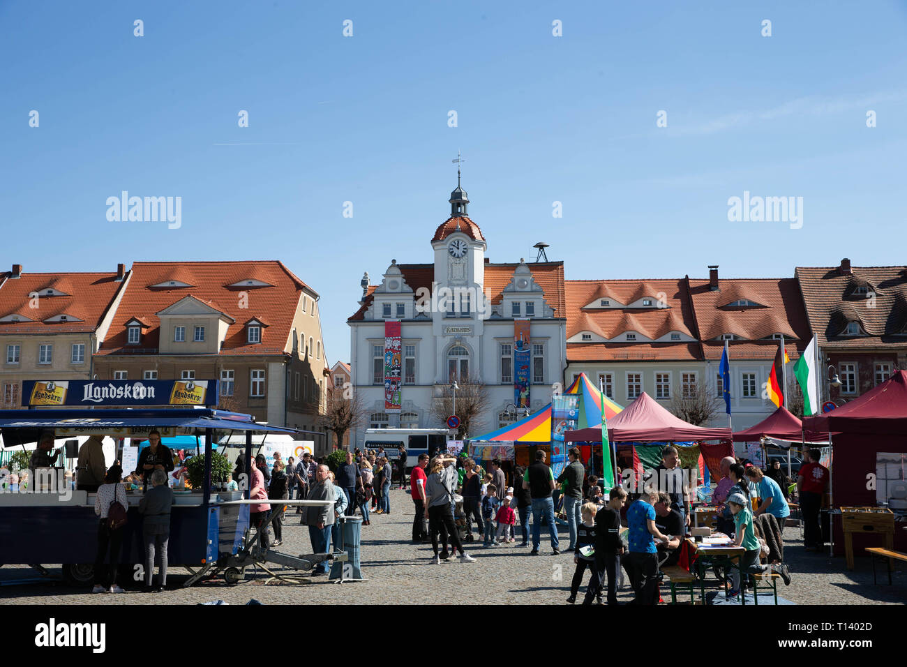 Ostritz, Germany  23rd Mar, 2019  People celebrate at noon on the