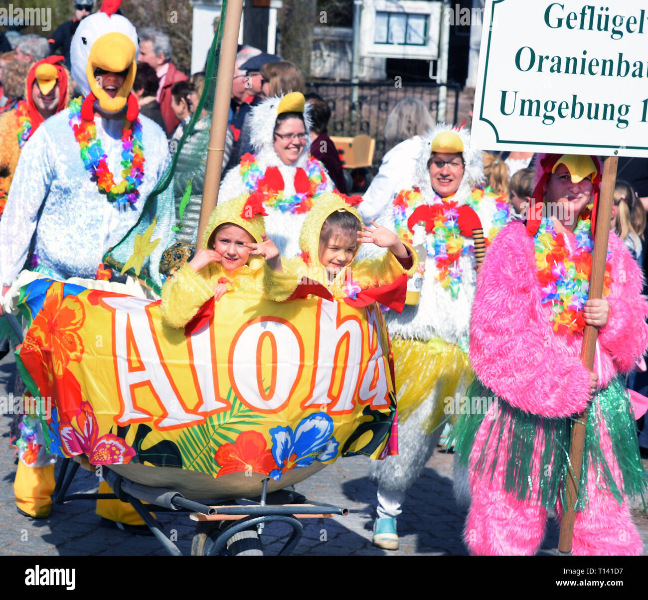 Spring Awakening Festival 2020 23 March 2020, Saxony Anhalt, Wörlitz: The costumed Wörlitz