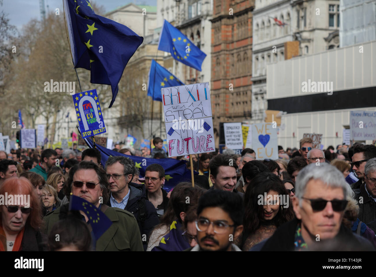 Peoples Vote March 23 March 2019 - Stock Image