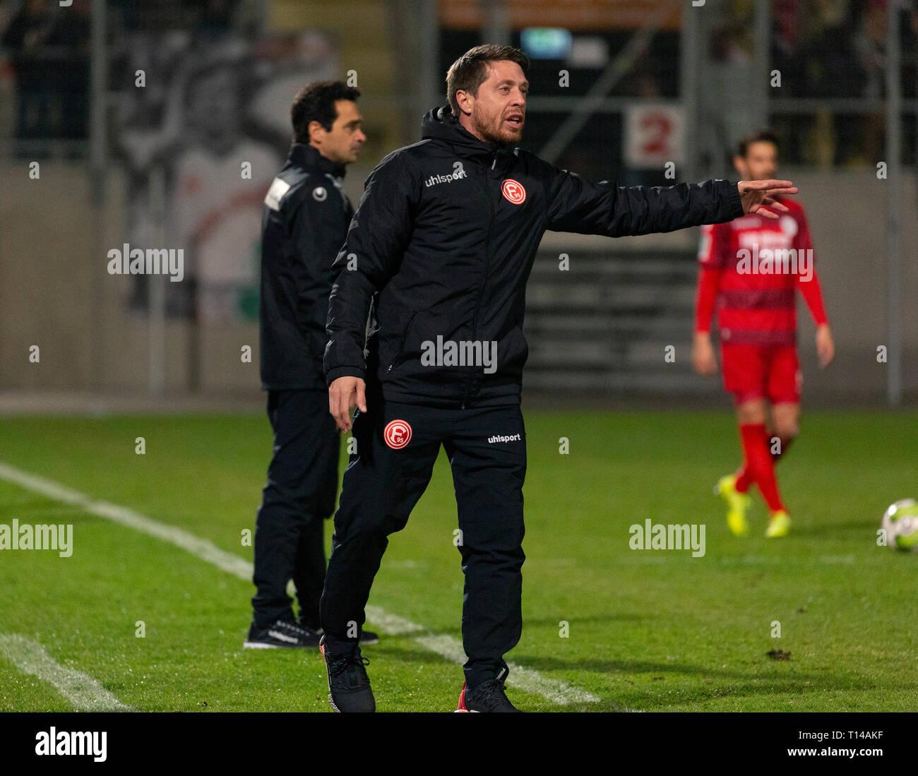 sports, football, Regional League West, 2018/2019, Rot Weiss Oberhausen vs Fortuna Duesseldorf U23 3-3, Stadium Niederrhein in Oberhausen, Andreas Lambertz (Fortuna) - Stock Image