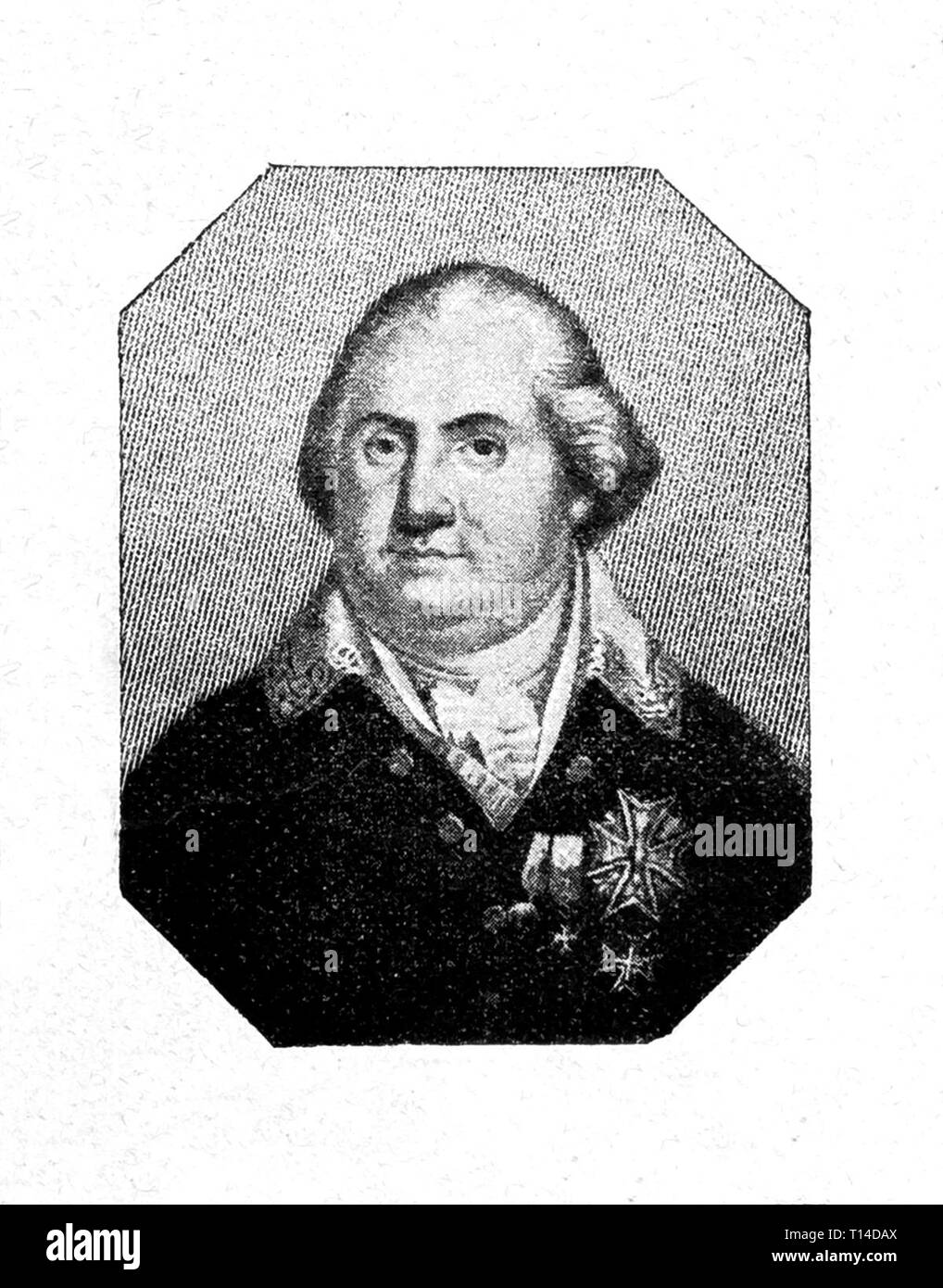Louis XVIII of France. Digital improved reproduction from Illustrated overview of the life of mankind in the 19th century, 1901 edition, Marx publishing house, St. Petersburg. Stock Photo