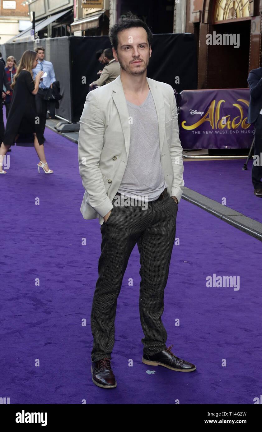 Jun 15, 2016 - London, England, UK - Disney's Aladdin Musical Press Night, Prince Edward Theatre Photo Shows: Andrew Scott - Stock Image