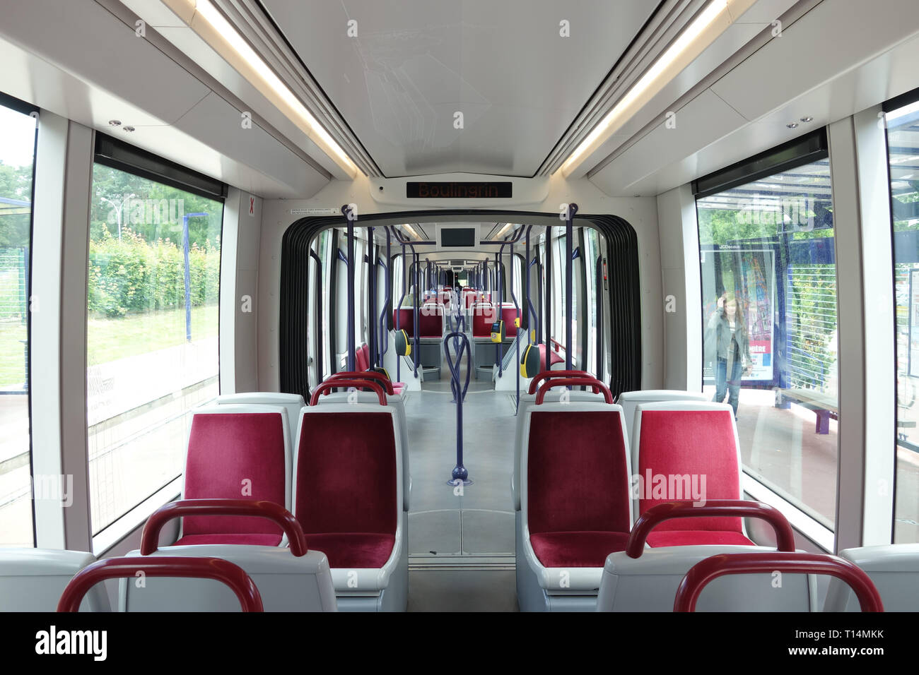Rouen, Tramway - Stock Image