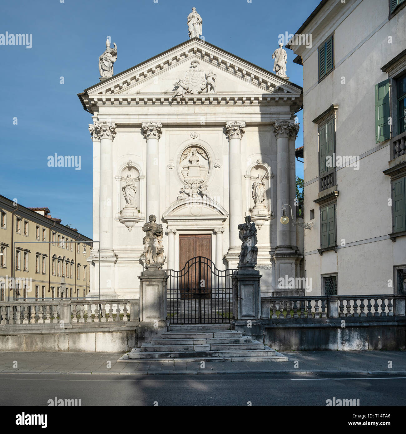 Udine, Friuli Venezia Giulia region, Italy. March 22 2019.   The church of San Sant'Antonio Abate, a religious building, now deconsecrated in the cent - Stock Image