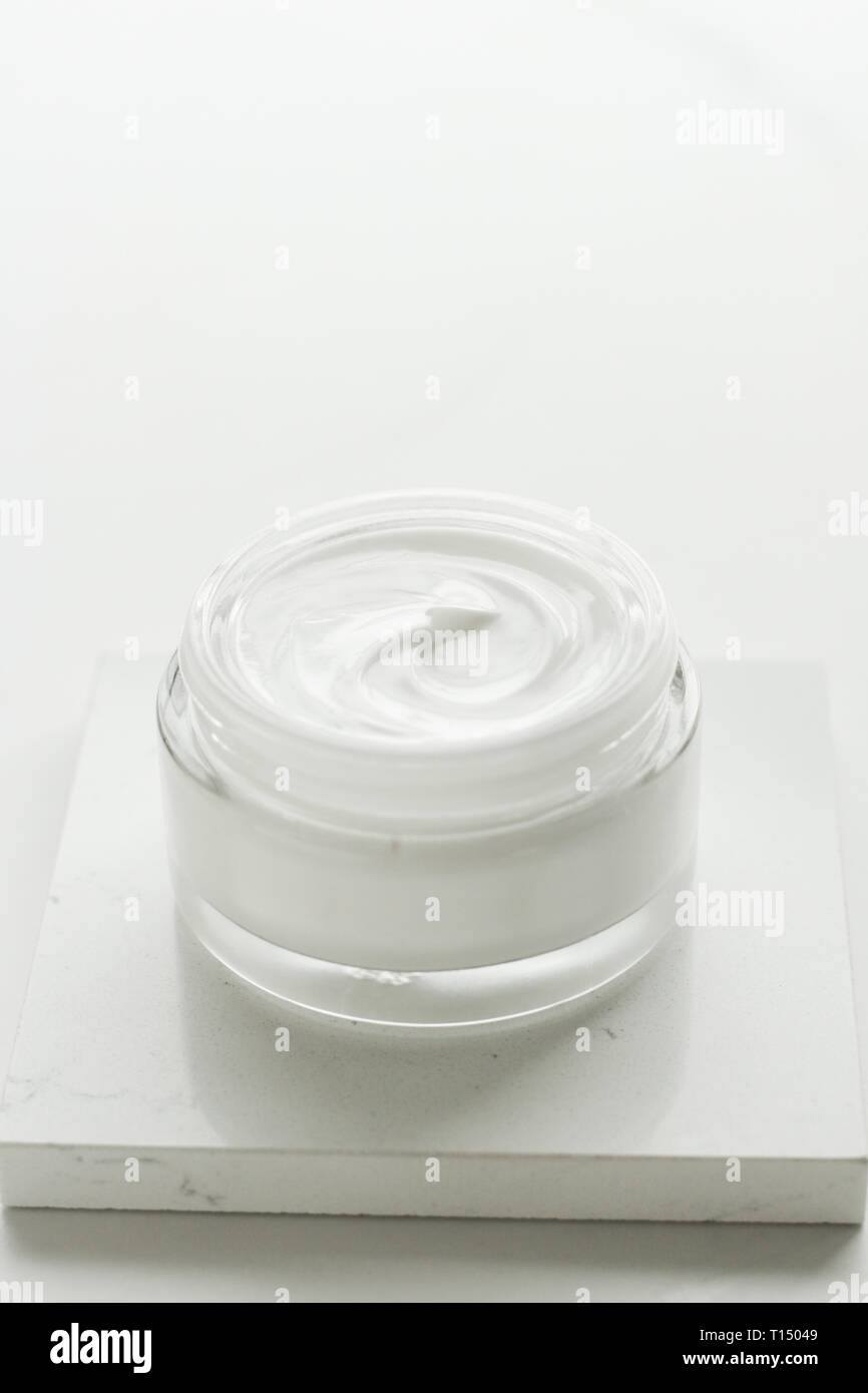Beauty, anti-age and skincare concept - Luxury face cream jar, moisturizing cosmetics - Stock Image