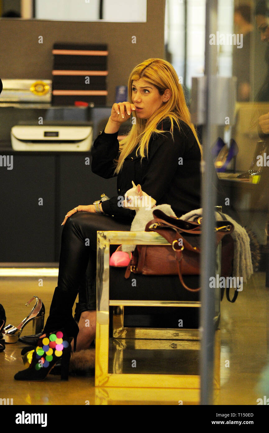 Actress Paola Caruso Shopping In The Centre Of Milan Featuring Paola Caruso Where Milan Italy When