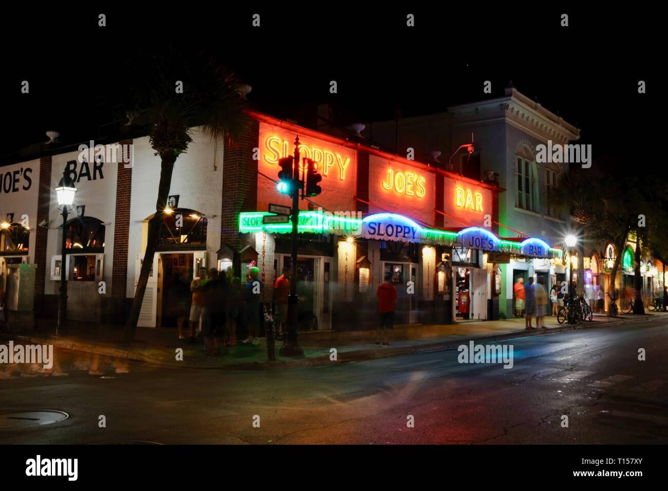 at Mallory Square on Key West, Florida Keys, Florida, USA Stock Photo