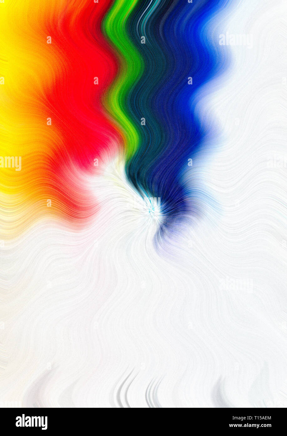 Rainbow colored background with a watercolor vibe. Plenty of room for text. Great for advertising, greeting cards, wallpaper, backgrounds. - Stock Image