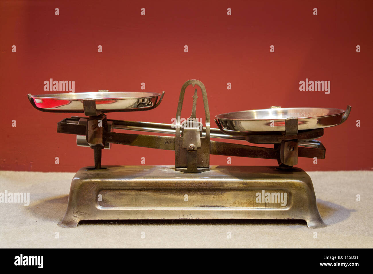 Old antique iron scales - Stock Image